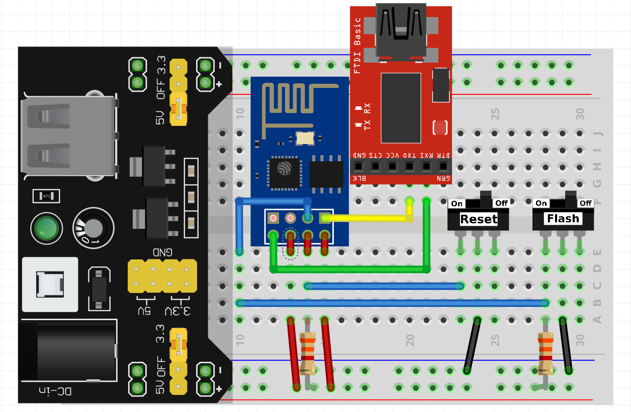 imlightsw flasher breadboard